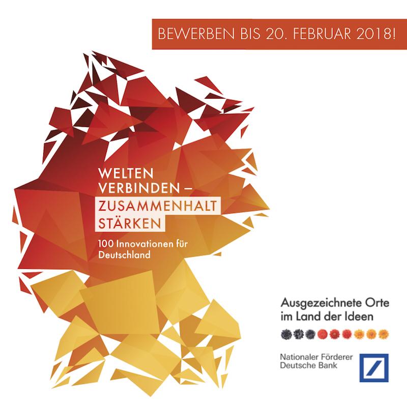 land der Ideen - Welten verbinden - Zusammenhalt stärken - 100 Innovationen für Deutschland