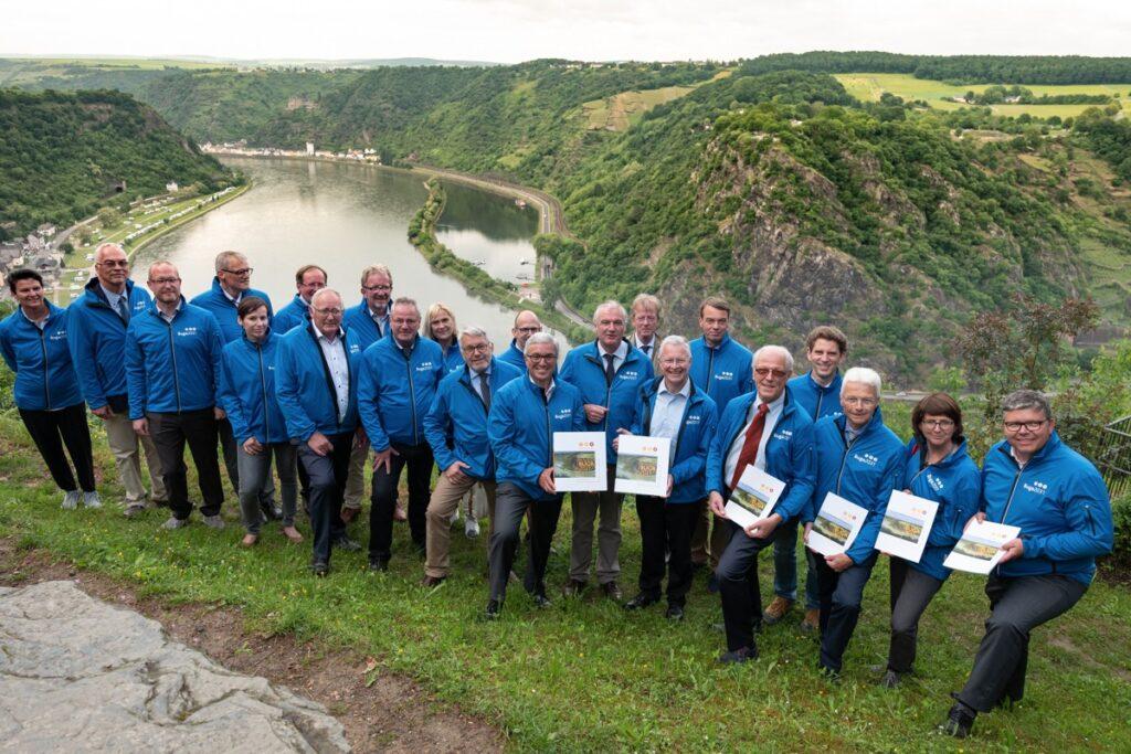 Die Deutsche bundesgartenschaugesellschaft unterwegs am Mittelrhein