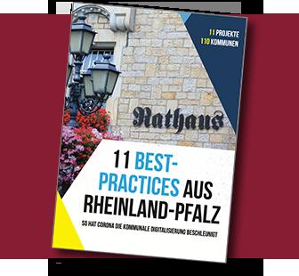 Broschüre (PDF): 11 Best-Practices aus Rheinland-Pfalz. So hat Corona die kommunale Digitalisierung beschleunigt