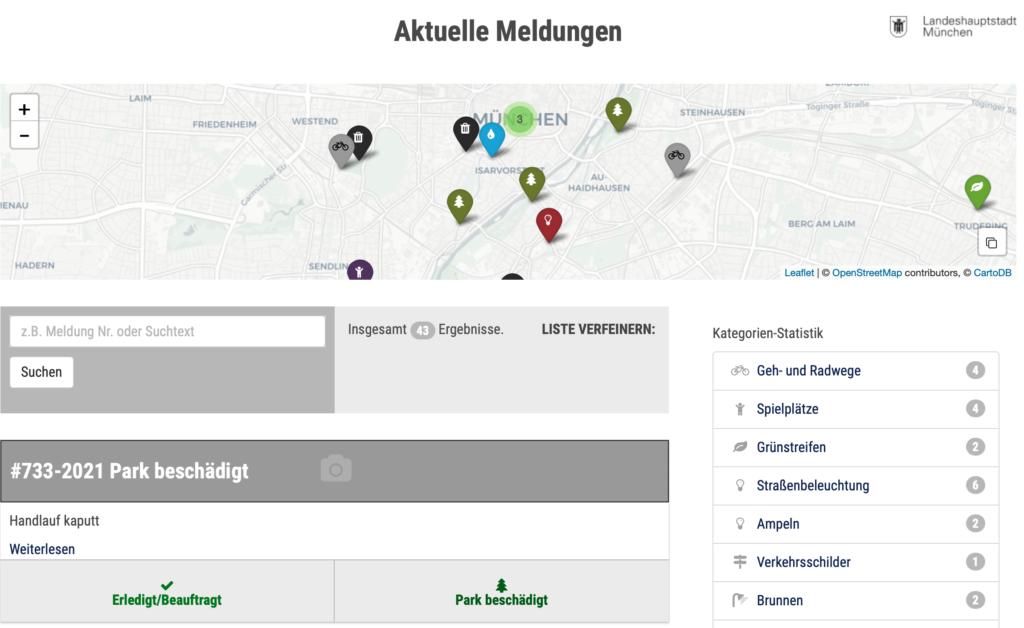 (Screenshot: Stadt München)